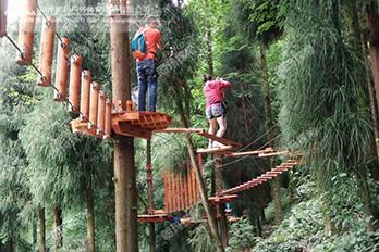 四川什邡神瀑沟景区树上探险基地